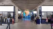 Mineral Evolution Gallery in Museum (Rendering)